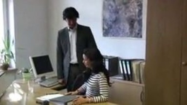 Amateur german fucked in the office