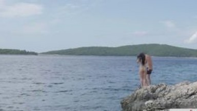 Intense fuck at the beach with Russian babe Taissia